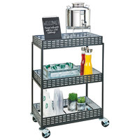 Cal-Mil 3583-13 3-Shelf Iron Beverage Cart - 29 inch x 18 1/2 inch x 41 3/4 inch