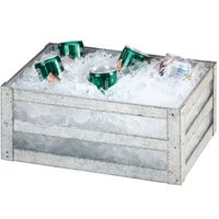 Cal-Mil 3594-12 Galvanized Metal Ice Housing - 12 inch x 20 inch x 6 1/2 inch
