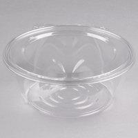 Dart CTR64BF SafeSeal 64 oz. Plastic Tamper-Resistant, Tamper-Evident Bowl with Flat Lid - 50/Pack