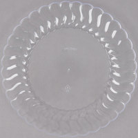 "Fineline Flairware 206-CL 6"" Clear Plastic Plate - 18/Pack"
