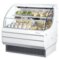 Turbo Air TOM-40L White 39 inch Low Profile Horizontal Air Curtain Display Case - 8.8 Cu. Ft.