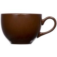 Tuxton DMF-0801 Duratux 8 oz. Mahogany China Cappuccino Cup - 24/Case