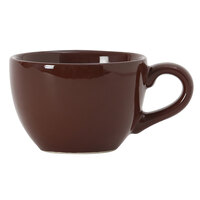 Tuxton DMF-1601 Duratux 16 oz. Mahogany China Cappuccino Cup - 24/Case