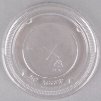 Clear PET Plastic Lid with Straw Slot for 12, 16, 21, 22, and 24 oz. Cups - 1000 / Case
