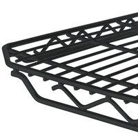 Metro 1848Q-DBM qwikSLOT Black Matte Wire Shelf - 18 inch x 48 inch
