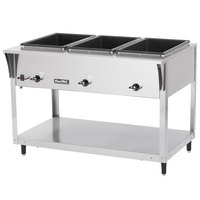 Vollrath 38217 ServePan SL Electric Three Pan Hot Food Table 208/240V - Sealed Well