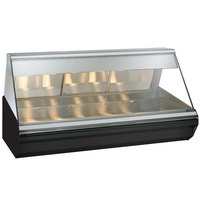 Alto-Shaam EC2-72 BK Black Heated Display Case with Angled Glass - Full Service 72 inch