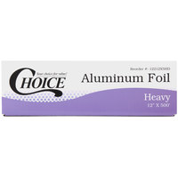Choice 12 inch x 500' Food Service Heavy-Duty Aluminum Foil Roll