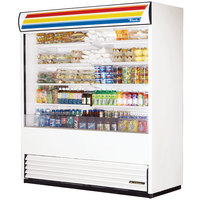 True TAC-72-LD White Vertical Air Curtain Refrigerator - 66 Cu. Ft.