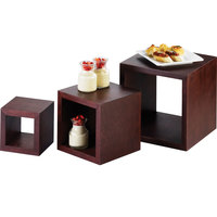 Cal-Mil 1915 5 inch, 7 inch, and 9 inch Westport Wooden Cube Riser Set