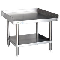 Regency 16 Gauge 30 inch x 30 inch All Stainless Steel Equipment Stand with Undershelf