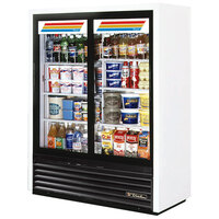 True GDM-41SL-60-LD 47 inch White Convenience Store Glass Door Merchandiser - 19 Cu. Ft.