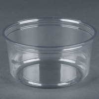 Fabri-Kal Alur RD12 12 oz. Recycled Customizable Clear PET Plastic Round Deli Container - 500 / Case