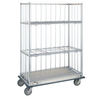 Metro CLT2460S 24 inch x 60 inch Standard Duty Stainless Steel Convertible Linen Truck