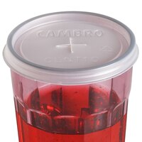 Cambro CLNT10 Disposable Lid with Straw Slot for 10 oz. Newport and 9.6 oz. Camwear Tumblers - 1000 / Case