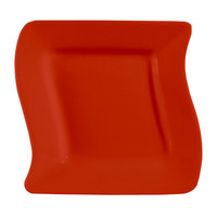 CAC SOH-16R Color Soho 10 1/2 inch Red Square Stoneware Plate - 12/Case