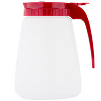 Tablecraft 748R Red 48 oz. Polyethylene All Purpose Dispenser with ABS Top