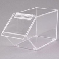 Cal-Mil 492 Classic Stackable Acrylic Topping Bin - 4 1/2 inch x 11 inch x 5 1/2 inch