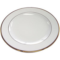 CAC GRY-16 Golden Royal 10 1/2 inch Bright White Round Porcelain Plate - 12/Case
