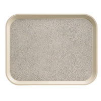 Cambro 1418VC380 18 inch x 14 inch Ivory Non-Skid Versa Camtray - 12 / Case