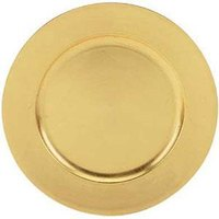 Tabletop Classics TRG-6651 13 inch Gold Leaf Round Acrylic Charger Plate