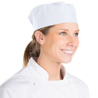 Chef Revival H002-R 20 inch-22 inch White Poly-Cotton Blend Pill Box Chef Hat