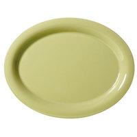 GET OP-135-AV Avocado Diamond Harvest 13 1/2 inchx 10 1/4 inch Oval Platter - 12/Case
