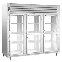 Traulsen RHT332WPUT-HHG Stainless Steel 83.2 Cu. Ft. Three Section Glass Half Door Pass-Through Refrigerator - Specification Line