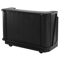 Cambro BAR650DX110 Black Cambar 67 inch Portable Bar with 7-Bottle Speed Rail, Cold Plate, and Pre-Mix System