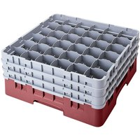 Cambro 36S800163 Red Camrack 36 Compartment 8 1/2 inch Glass Rack