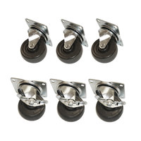 True 872070 4 inch Swivel Plate Casters - 6 / Set