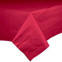 Hoffmaster 220411 54 inch x 54 inch Cellutex Red Tissue / Poly Paper Table Cover - 50 / Case