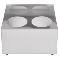Four Hole Stainless Steel Flatware Cylinder Holder
