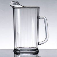 Cambro P60CW Camwear 60 oz. Clear Plastic Pitcher - 6/Case