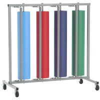 Bulman R998 36 inch Vertical Four Roll Paper Rack - Unassembled