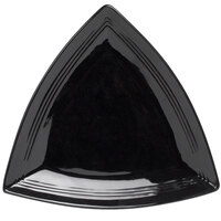 Tuxton CBZ-1248 Concentrix 12 1/2 inch Black Triangle China Plate - 6 / Case