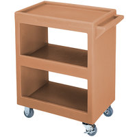 Cambro BC225157 Coffee Beige Three Shelf Service Cart - 28 inch x 16 inch x 32 1/4 inch