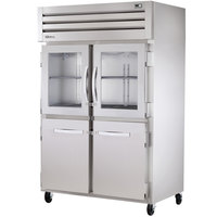 True STG2R-2HG/2HS Specification Series Two Solid and Two Glass Half Door Reach In Refrigerator - 56 Cu. Ft.