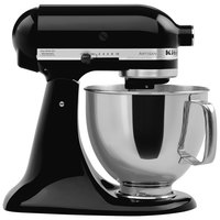 KitchenAid KSM150PSOB Onyx Black Artisan Series 5 Qt. Countertop Mixer