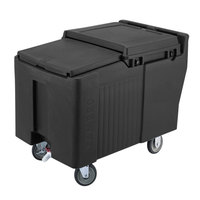 Cambro ICS175L110 Black Sliding Lid Portable Ice Bin - 175 lb. Capacity