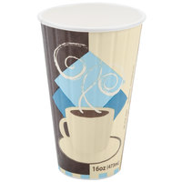 Dart Solo IC16-J7534 Duo Shield 16 oz. Poly Paper Hot Cup - 525 / Case