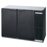 Beverage Air BB48R-1-B 48 inch Black Remote Cooled Back Bar Refrigerator with 2 Solid Doors - 115V