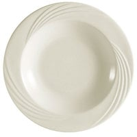 CAC GAD-120 Garden State 12 inch Bone White Round Porcelain Soup Plate - 12/Case