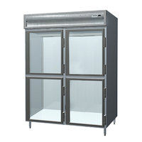 Delfield SSDFL2-GH 49.92 Cu. Ft. Glass Half Door Dual Temperature Reach In Refrigerator / Freezer - Specification Line
