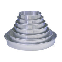 American Metalcraft HA90082P 8 inch x 2 inch Perforated Tapered / Nesting Heavy Weight Aluminum Pizza Pan