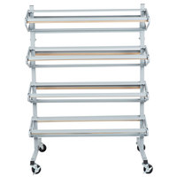 Bulman R370 36 inch Horizontal Tower 8 Roll Standard Paper Rack - Unassembled