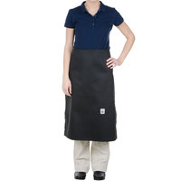 Chef Revival A009BK 30 inch x 30 inch Customizable 4-Sided Black Chef Bistro Apron