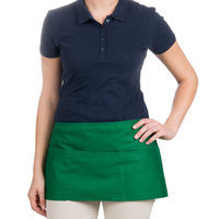 Choice 12 inch x 24 inch Kelly Green Front of the House Waist Apron
