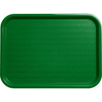 Carlisle CT121609 Customizable Cafe 12 inch x 16 inch Green Standard Plastic Fast Food Tray - 24/Case
