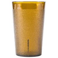 9 oz. Amber Pebbled Plastic Tumbler - 12/Pack